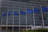 Exterior views of the Berlaymont building in Brussels