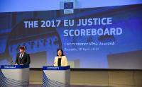 Press Conference by Vĕra Jourová, Member of the EC, on EU Justice Scoreboard 2017