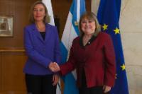 Visite de Federica Mogherini, vice-présidente de la CE, en Argentine