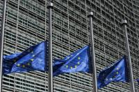 European flags fly at half-mast to pay tribute to the victims of the terrorist attacks in London