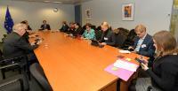 Visite de membres de la Grande commission (Grand Comité) du Parlement finlandais