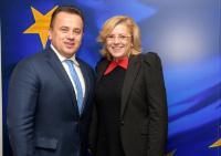 Visite de Liviu-Marian Pop, ministre roumain de l'Education nationale, à la CE