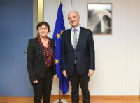 Visite de Annick Girardin, ministre française des Outre-mer, à la CE