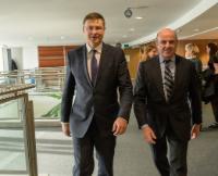Visite de Luis de Guindos Jurado, ministre espagnol de l'Economie, de l'Industrie et de la Compétitivité, à la CE