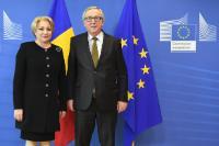 Visite de  Viorica Dăncilă, Première ministre roumaine, à la CE