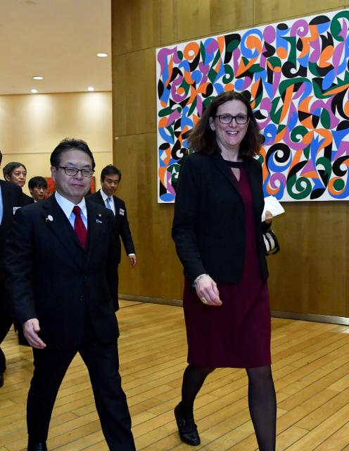 Bilateral meeting betweeen Cecilia Malmström, Member of the EC in charge of Trade, and Hiroshige Seko, Japanese Minister for Economy, Trade and Industry