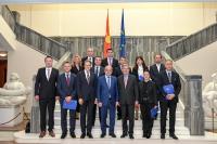 Visite de Johannes Hahn, membre de la CE, à l'ancienne République yougoslave de Macédoine