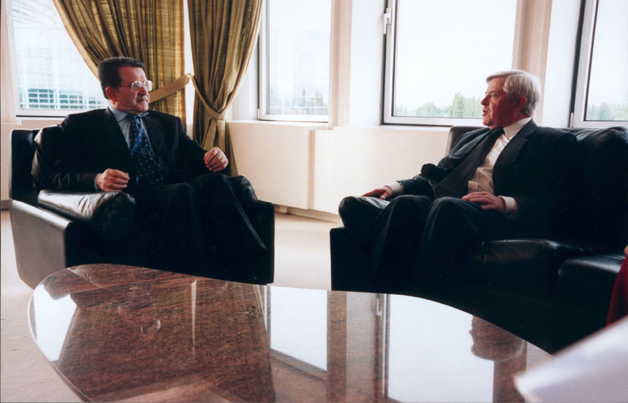 Meeting between Milan Kučan, President of Slovenia, and Romano Prodi
