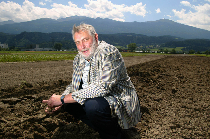 Franz Fischler, Member of the EC, in his native town