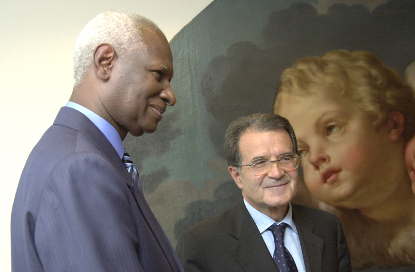 Visit of Abdou Diouf, Secretary General of the Organisation internationale de la francophonie, to the EC