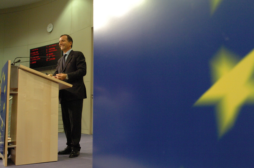 Press conference of Franco Frattini, Vice-President of the EC, on fight against terrorism
