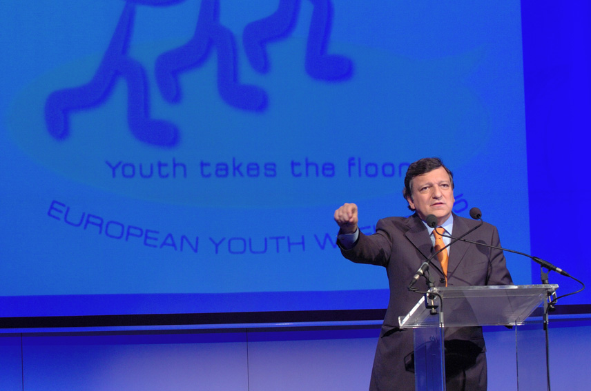 Launch of the European Youth Week by José Manuel Barroso, President of the EC, and Ján Figel', Member of the EC