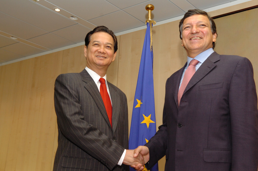 Visite de Nguyen Tan Dung, Premier ministre vietnamien, à la CE