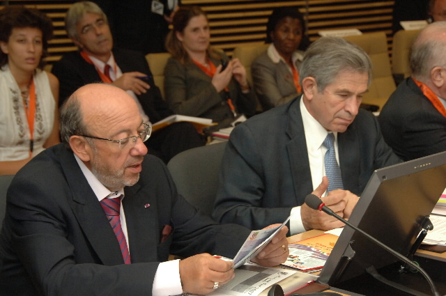 High-level conference with Louis Michel, Gordon Brown and Paul Wolfowitz for new commitments for education in developing countries