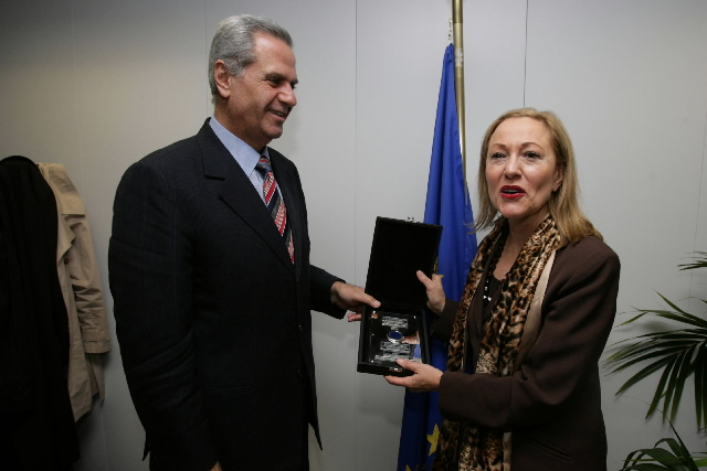 Awarding of Bleu de la Méditerranée award to Benita Ferrero-Waldner, Member of the EC