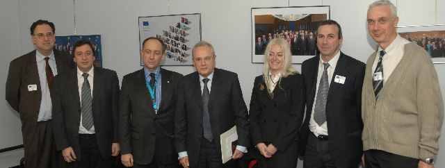 Visit by representatives of air control trade unions to the EC