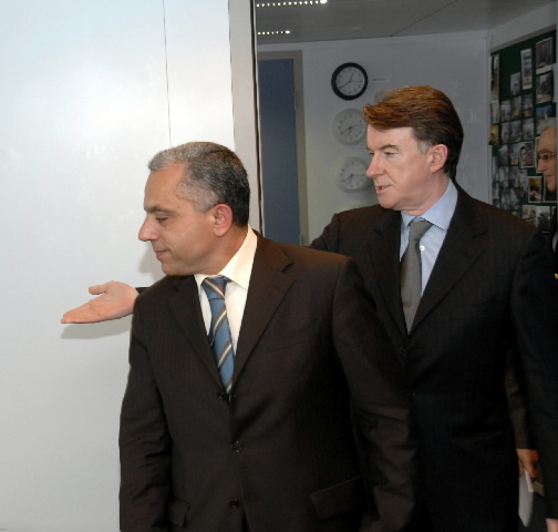 Visite d'Abdellatif Maâzouz, ministre marocain du Commerce extérieur, à la CE