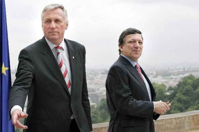 Visit of José Manuel Barroso, president of the EC, in the Czech Republic