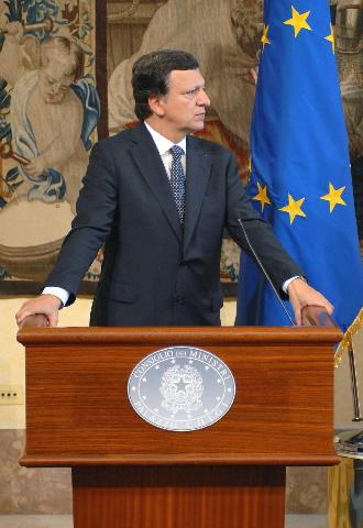 Visite de José Manuel Barroso, président de la CE, à Rome