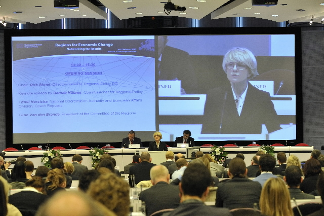 Participation of Danuta Hübner, Member of the EC, to the Regions for Economic Change conference