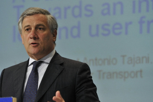 Press conference of Antonio Tajani, Vice-President of the EC, on the transport policy for the future