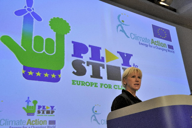Press conference by Margot Wallström, Vice-President of the EC, on the Play to stop - Europe for Climate campaign