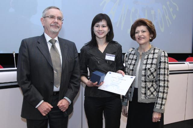 Award ceremony of the 2009 translation contest Juvenes Translatores (latin for young translators), in the presence of Androulla Vassiliou, Member of the EC