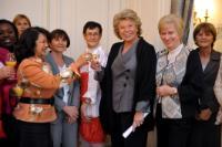 Participation de Viviane Reding, vice-présidente de la CE, à la réunion du