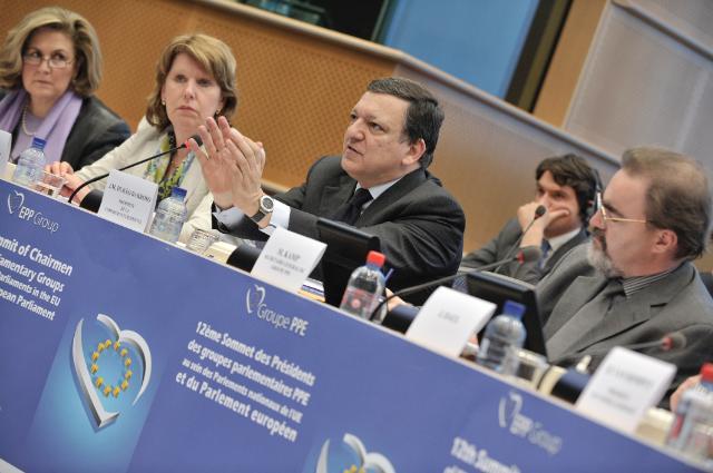 Participation de José Manuel Barroso, président de la CE, au 12e Sommet des présidents des groupes parlementaires PPE