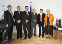 Visite de représentants de la Fédération internationale des mouvements d'agriculture biologique, à la CE