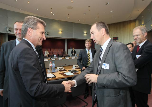 Visit of CEO of the gas industry to the EC