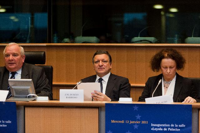 Inauguration of the Loyola de Palacio Room of the EP, in Brussels