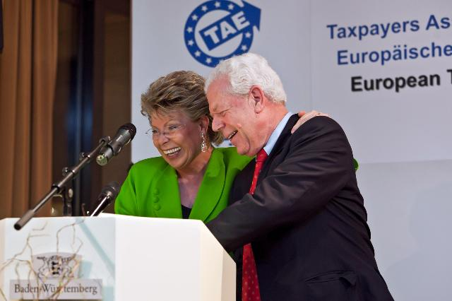 Participation of Viviane Reding, Vice-President of the EC, at the award ceremony of The European Taxpayers Award