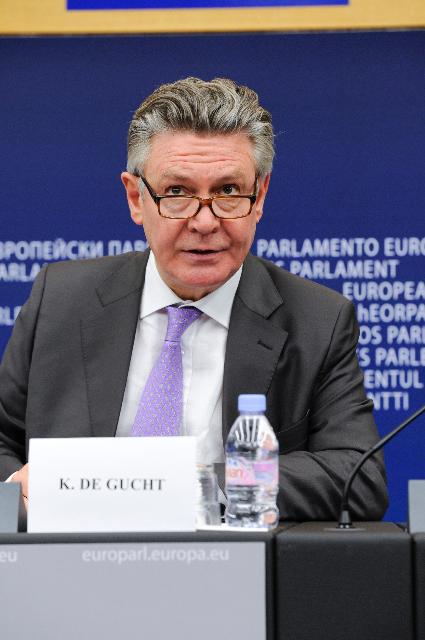 Press conference by Karel De Gucht, Member of the EC, on the EC's proposal to review its Generalised System of Preferences scheme