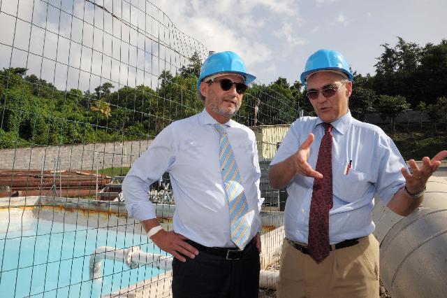 Visite de Johannes Hahn, membre de la CE, en Guadeloupe