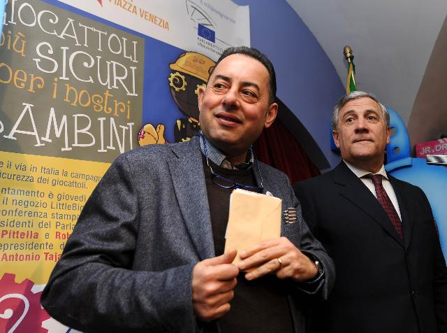 Visit of Antonio Tajani, Vice-President of the EC, to Italy in the framework of the Toy Safety Campaign