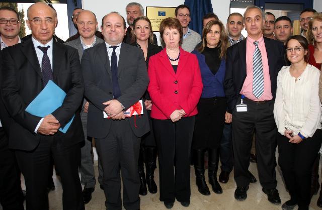 Visite de Catherine Ashton, vice-présidente de la CE, au Moyen-Orient