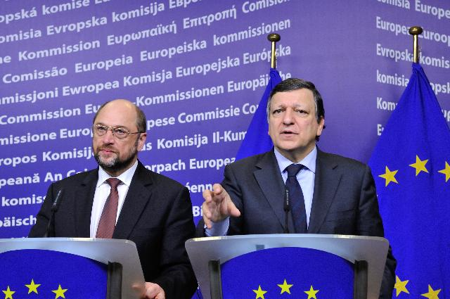 Visit of Martin Schulz, President of EP, to the EC