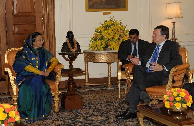 Visit of José Manuel Barroso, President of the EC, to India