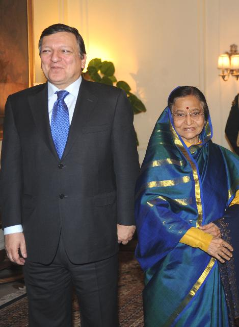 Visite de José Manuel Barroso, président de la CE, en Inde