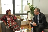 Visite d'Ellen Johnson-Sirleaf, présidente du Liberia, à la CE