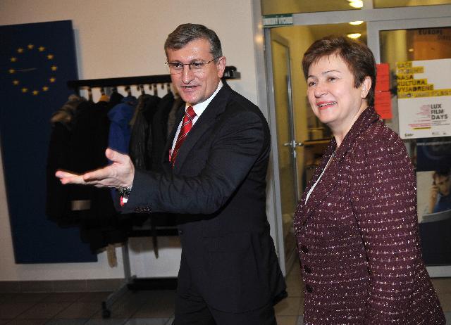 Visite de Kristalina Georgieva, membre de la CE, en Slovaquie