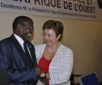 Visit of Kristalina Georgieva, Member of the EC, to Burkina Faso