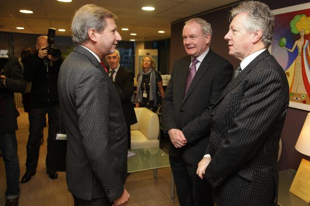 Visit of Peter Robinson, First Minister of Northern Ireland, and Martin McGuinness, Deputy First Minister of Northern Ireland, to the EC