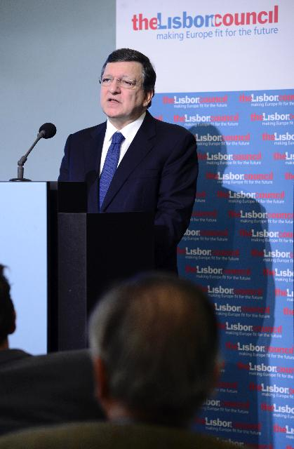 Participation of José Manuel Barroso, President of the EC, in the Europe 2020 Summit of the Lisbon Council