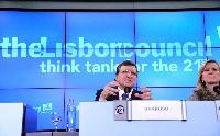 Participation de José Manuel Barroso, président de la CE, au sommet Europe 2020 du Conseil de Lisbonne