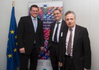 Visit of Serge Haroche, laureate of the Nobel Prize in Physics 2012, to the EC