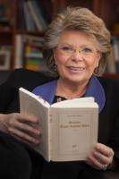 Viviane Reding, Vice-President of the EC, while reading for the campaign 'Get Caught Reading'