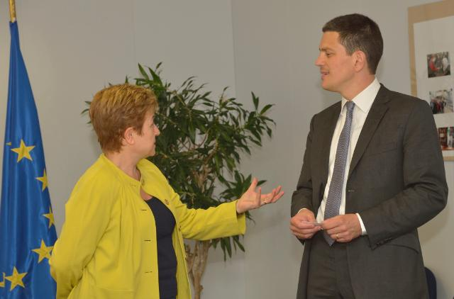 Visit of David Miliband, appointed CEO and President of the IRC, to the EC