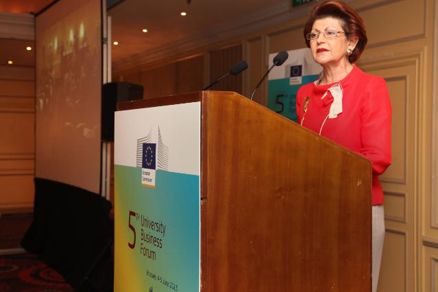 Participation of Androulla Vassiliou, Member of the EC, at the 5th edition of the European University-Business Forum